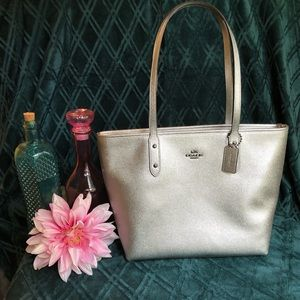 🌟Coach Silver City Zip Tote NWT